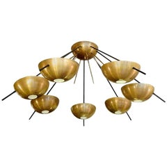 Large Amazing Italian Ceiling Lamp in the Style of Stilnovo
