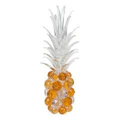 Large Amber Glass Pineapple