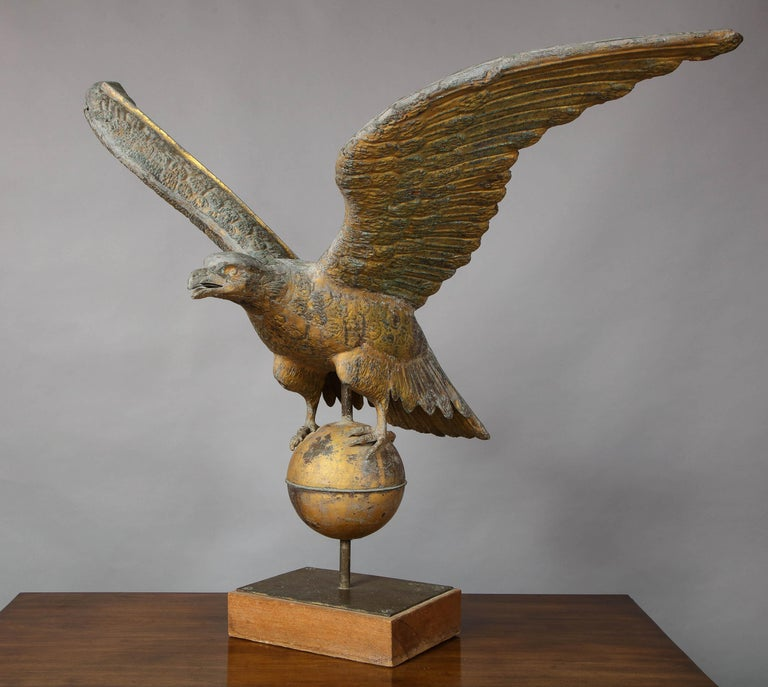 19th Century Large American Eagle Weathervane For Sale