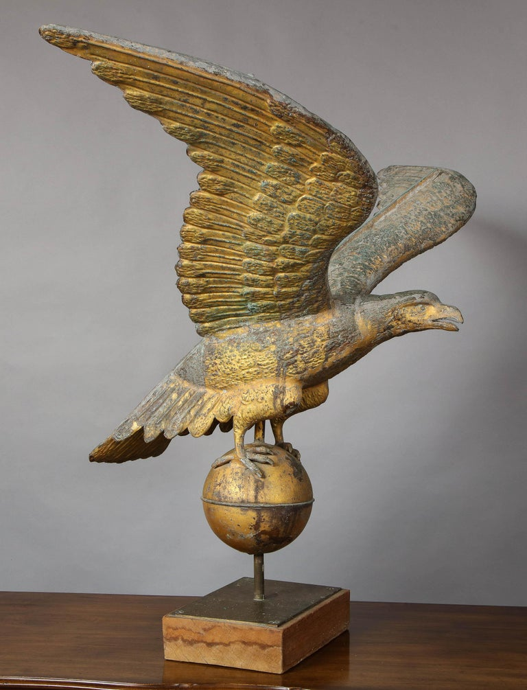 Copper Large American Eagle Weathervane For Sale