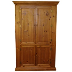 Large American Pine Entertainment and Storage Cabinet by Lane