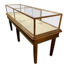Large American Two-Piece Floor Display Case Cabinet