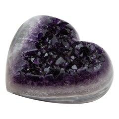 Large Amethyst Geode Druzy Heart