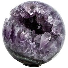Large Amethyst Geode Sphere