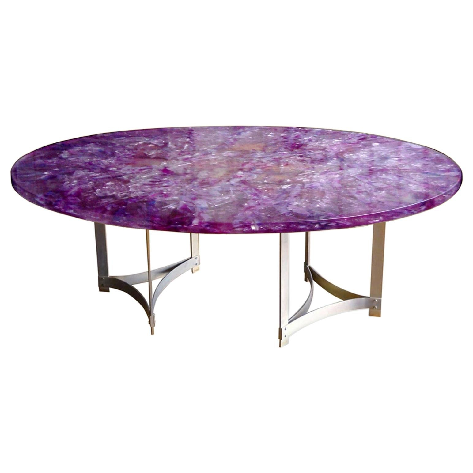 """Large """"Amethyst"""" Table by Gilles Charbin"""