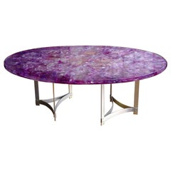 "Large ""Amethyst"" Table by Gilles Charbin"