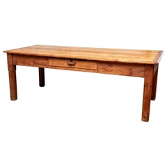 Large and Authentic Antique Pine Farm/Work Table