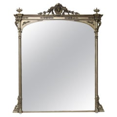 Large and Beautiful Mid-19th Century Overmantle Mirror