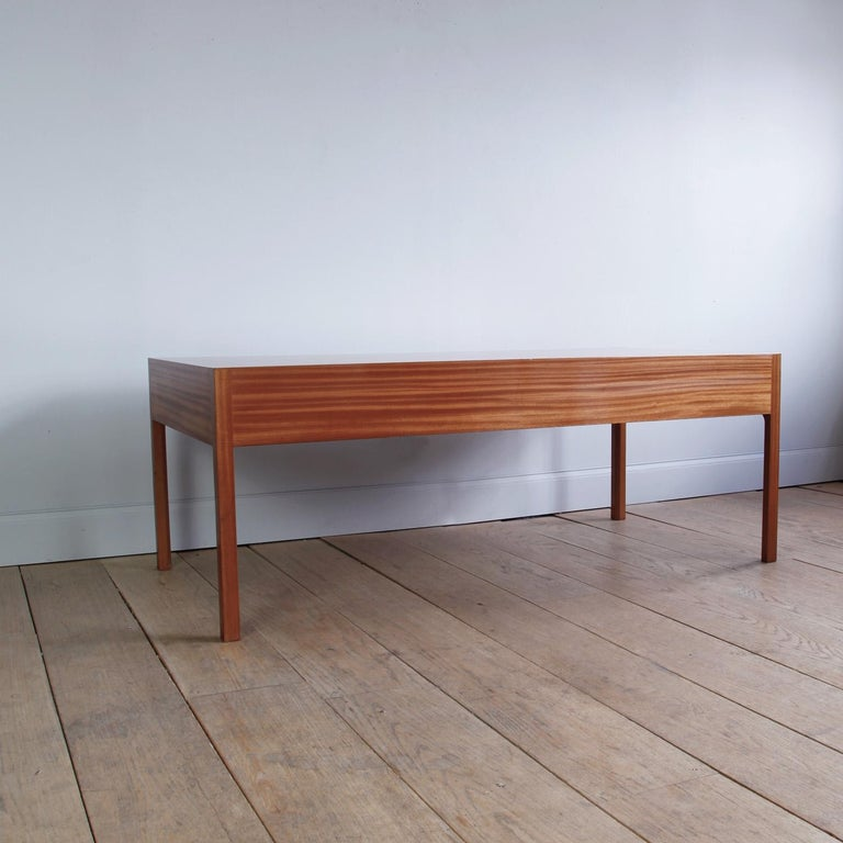Large and Exceptional Mahogany Desk by Bernt Petersen In Good Condition For Sale In New York, NY