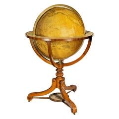 Large and Extremely Rare Terrestrial Globe by Newton
