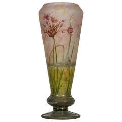 Large and Fine Daum Nancy Internally Decorated, Enamelled and Acid Etched Glass