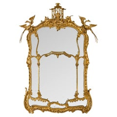 Large and Finely Carved George II Style Giltwood Mirror, English, circa 1830