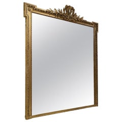 Large and Handsome Louis XVI Gilt Mirror