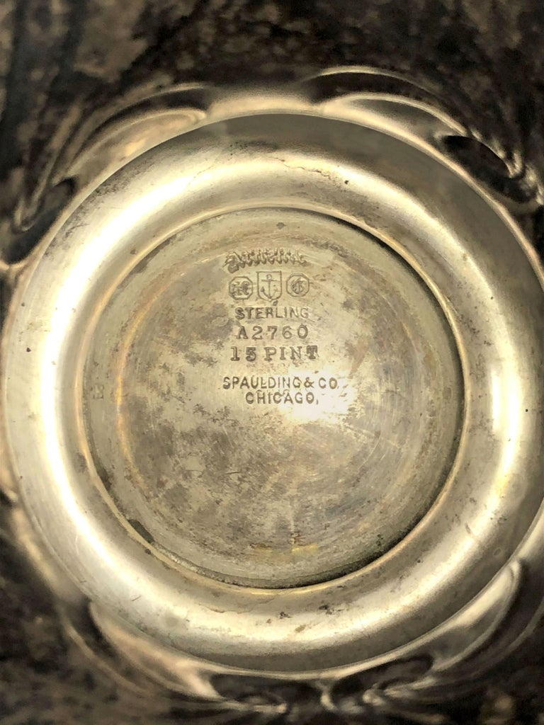 Large and Historically important Gorham Sterling 1905 Automobile Race Trophy Cup For Sale 6