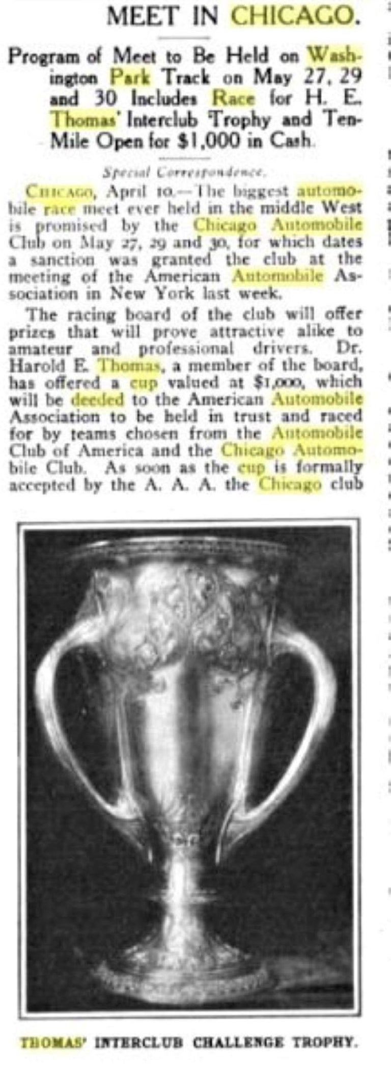 Large and Historically important Gorham Sterling 1905 Automobile Race Trophy Cup For Sale 7