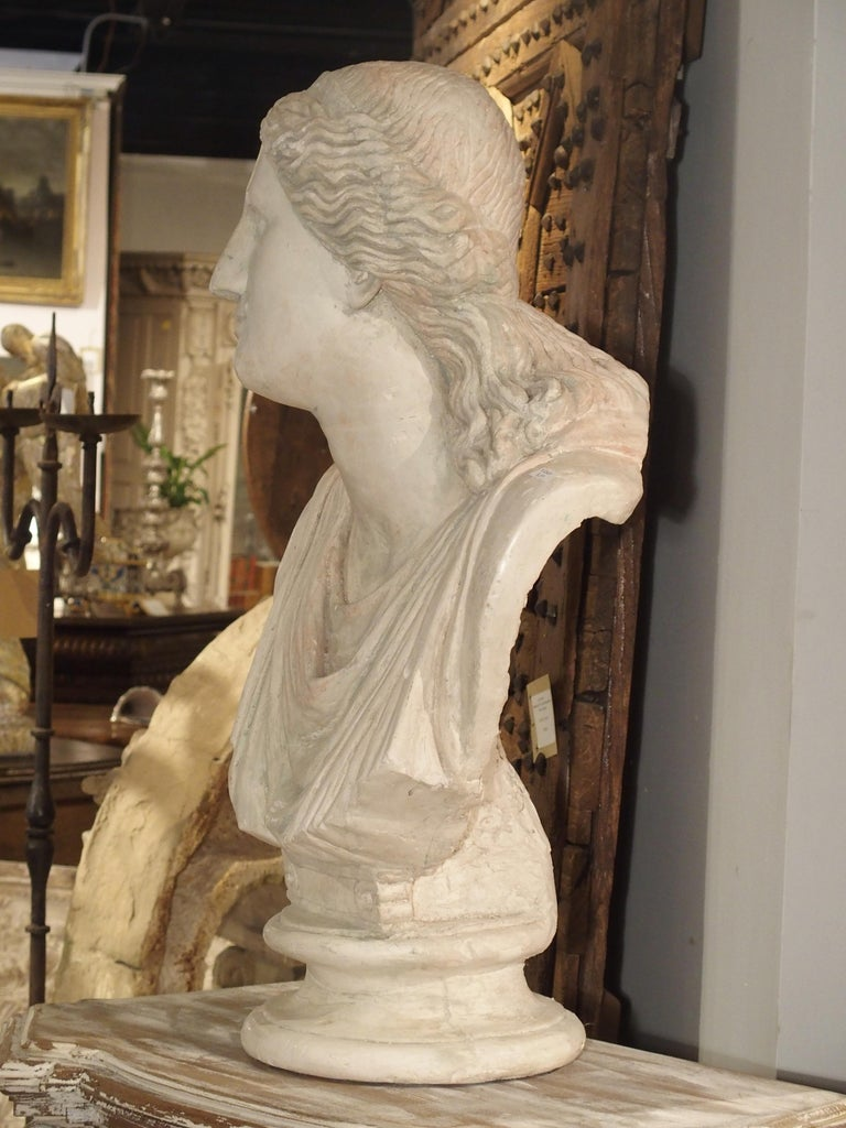 Large and Impressive 19th Century Plaster Bust of Niobe For Sale 6