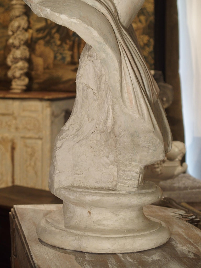 Large and Impressive 19th Century Plaster Bust of Niobe For Sale 1