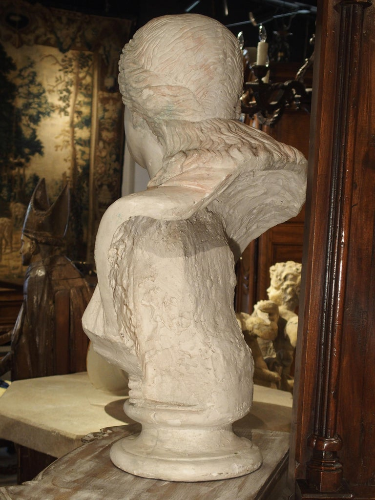 Large and Impressive 19th Century Plaster Bust of Niobe For Sale 2