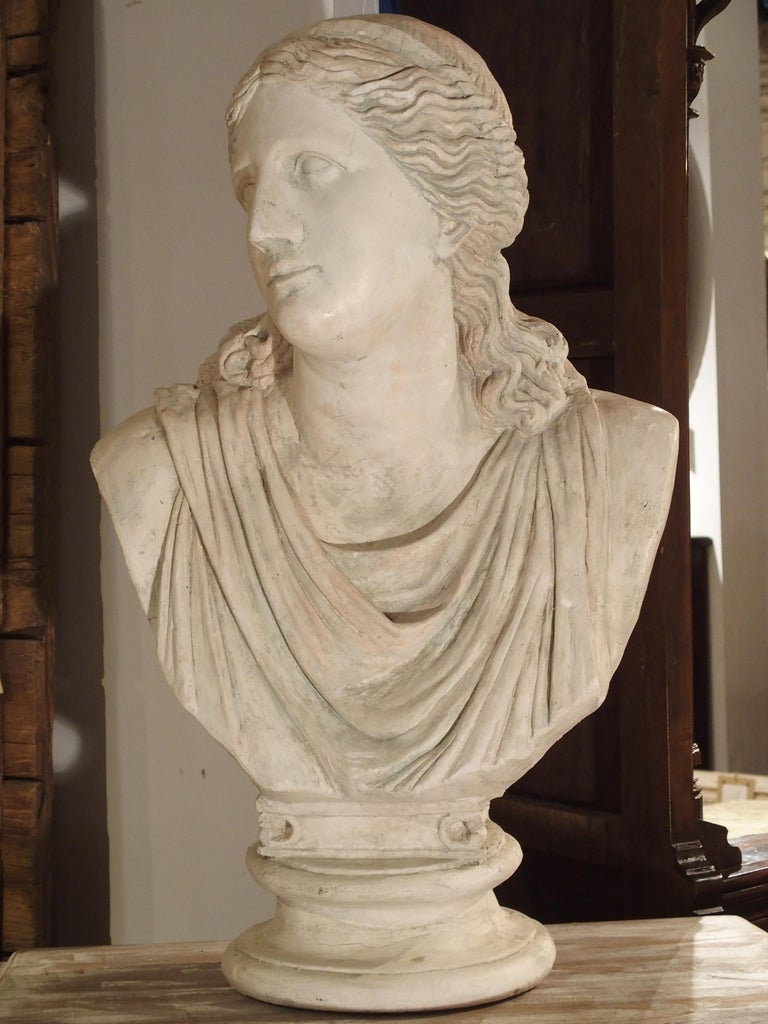 Large and Impressive 19th Century Plaster Bust of Niobe For Sale 3