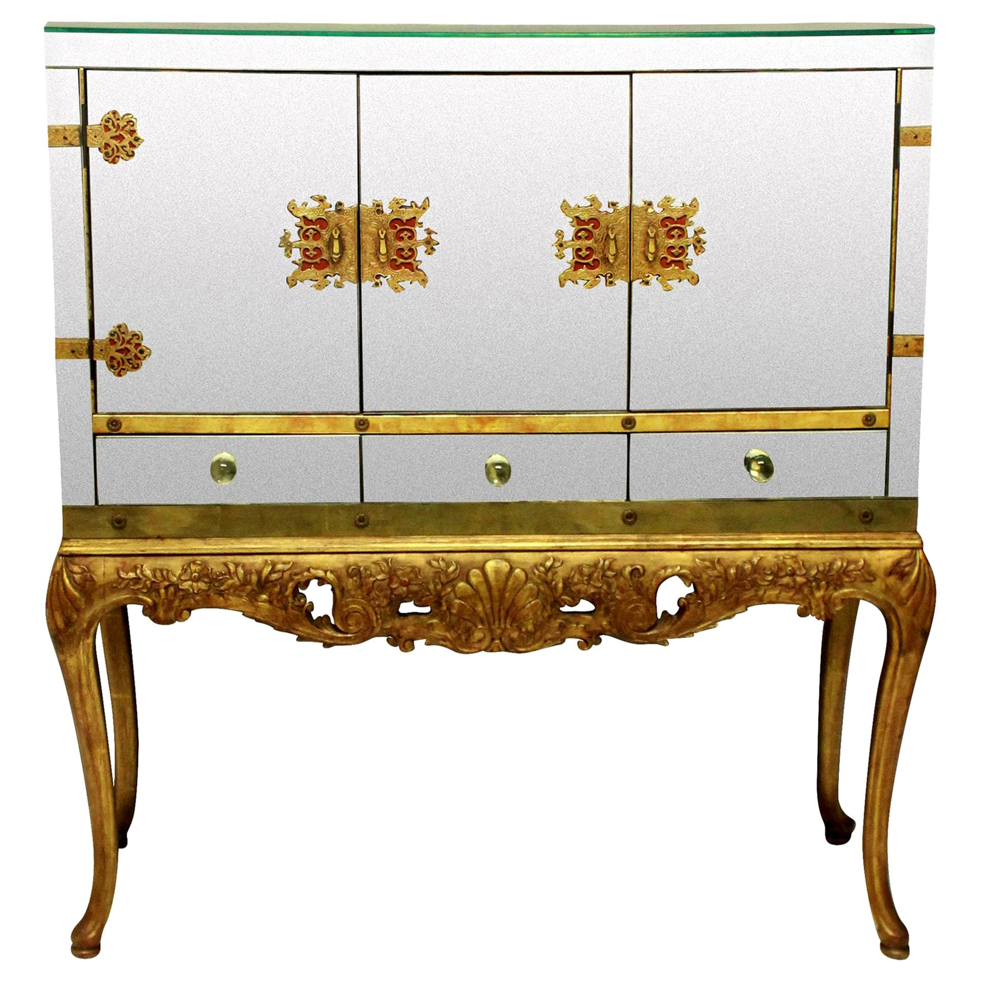 Large and Impressive American Bar Cabinet