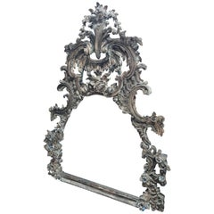 Large and Impressive Antique Italian Carved Frame in the Baroque Style
