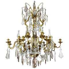 Large and Impressive Cut Glass Chandelier by Baccarat of Paris
