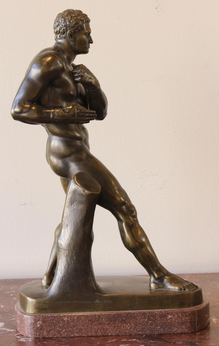 Classical Greek Large and Impressive Mid-19th Century Italian School Bronze Sculpture For Sale