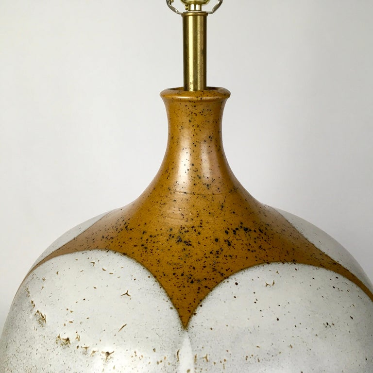 American Large and Monumental Midcentury David Cressey Pottery Ceramic Lamp For Sale