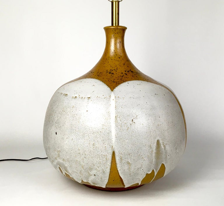 Hand-Crafted Large and Monumental Midcentury David Cressey Pottery Ceramic Lamp For Sale