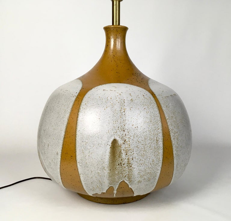 Large and Monumental Midcentury David Cressey Pottery Ceramic Lamp For Sale 1