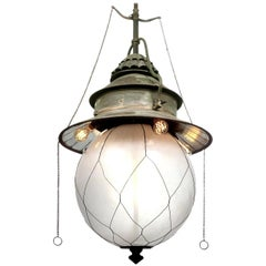 Large and Rare I. P. Frink Horse Stable Chandelier