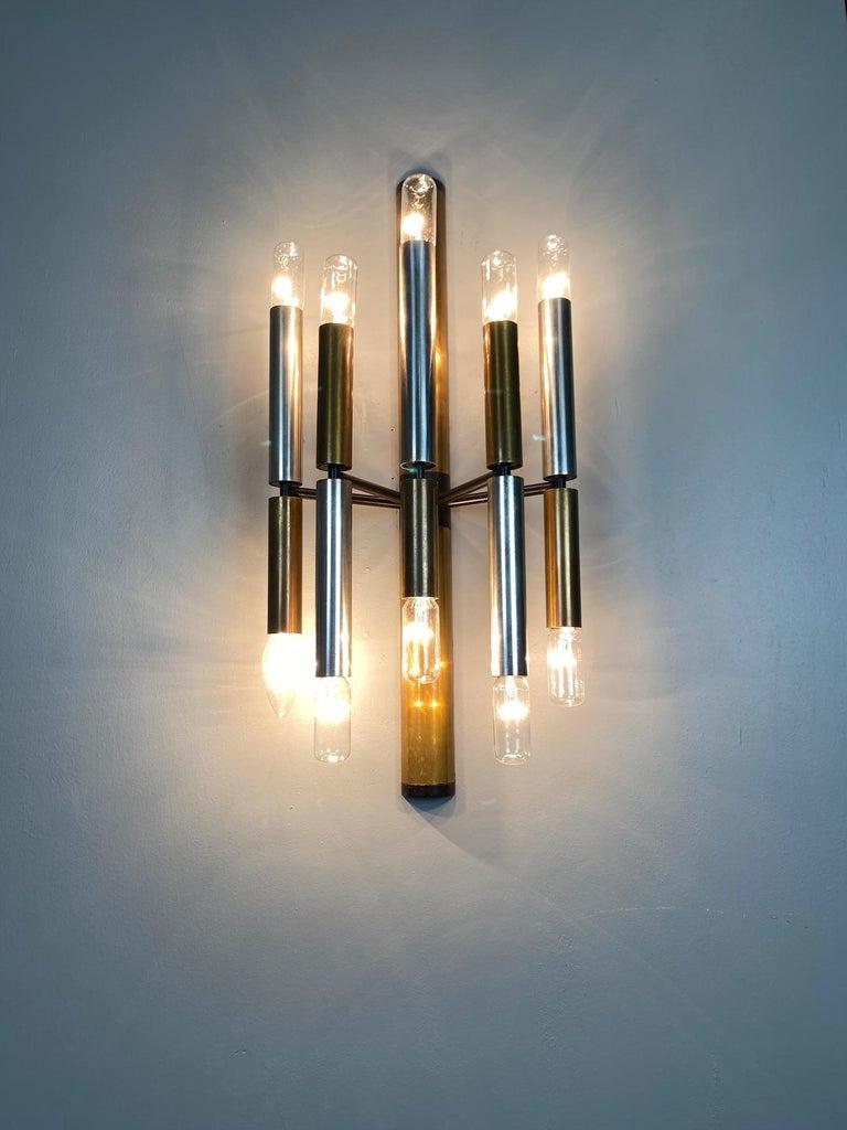 Large and Ten Lights Six Stilnovo Sconces For Sale 4