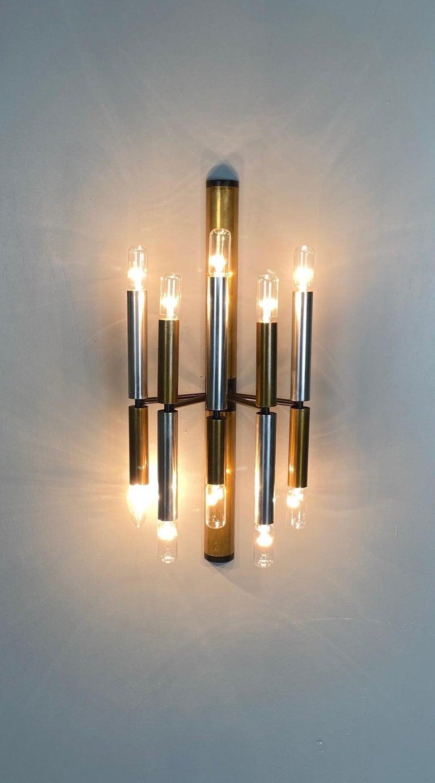 Large and Ten Lights Six Stilnovo Sconces For Sale 1