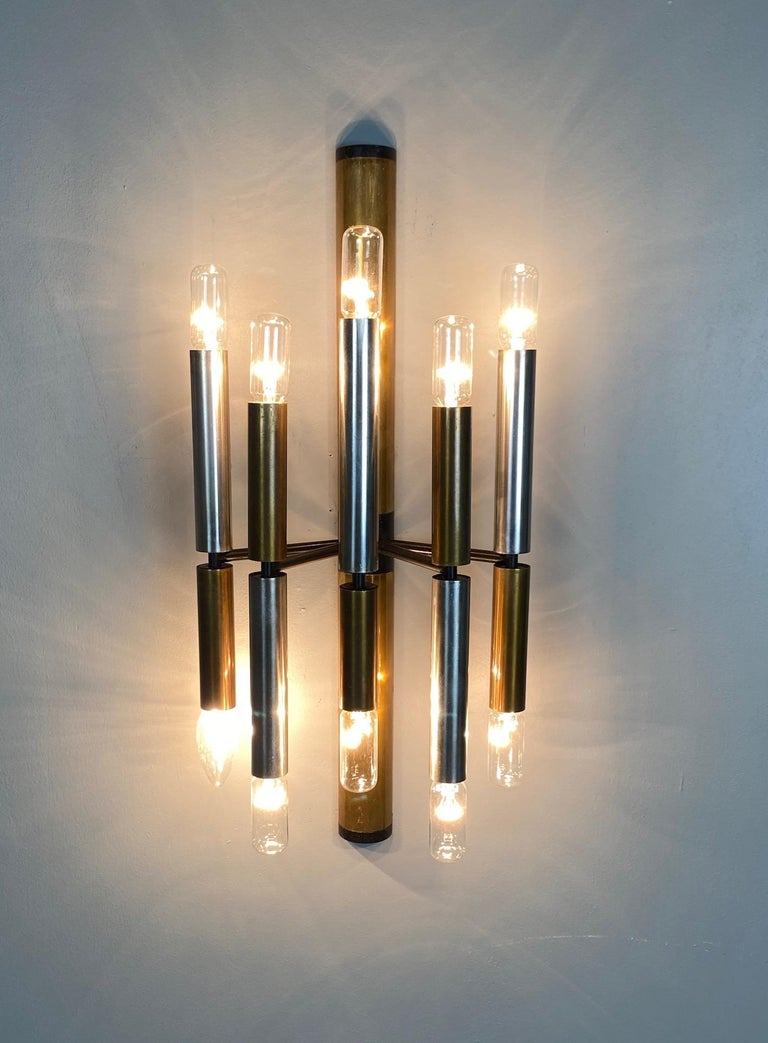 Large and Ten Lights Six Stilnovo Sconces For Sale 2