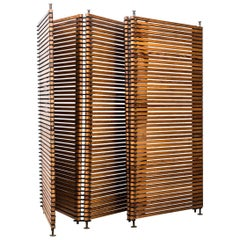 Large and Unique Room Divider in Oregon Pine Produced in Finland