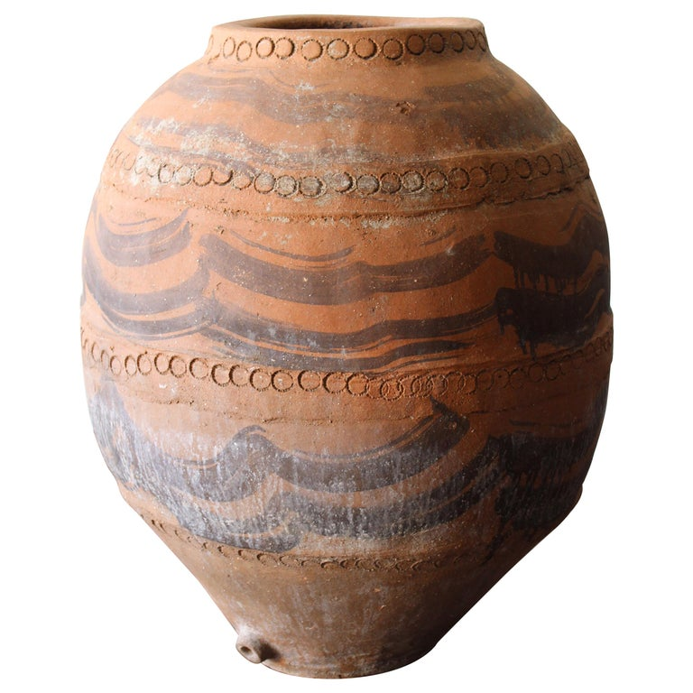 Large Andalusian Terracotta Jar For Sale