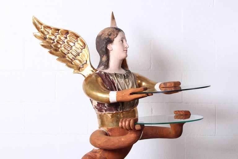 Large Angelic Serpentine Sculpture by Pedro Friedeberg For Sale 3