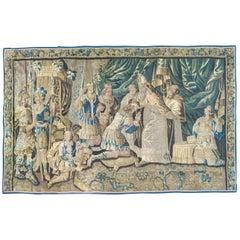 Large Antique 17th Century Flemish Religious Tapestry