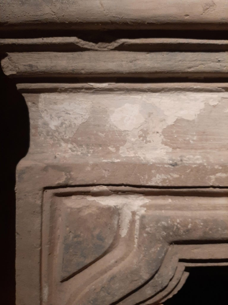 Large Antique 18th Century French Baroque Limestone Fireplace For Sale 4