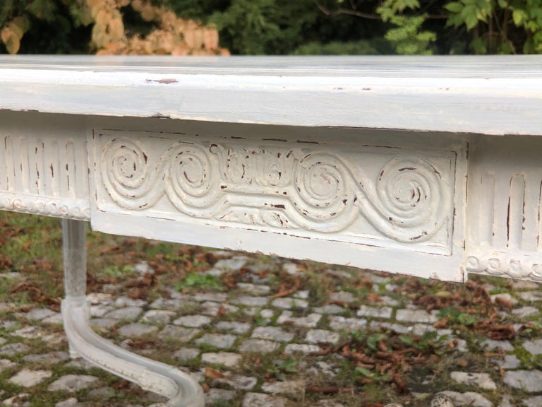 Large Antique 19th Century Swedish Painted Dining Room Table For Sale 7