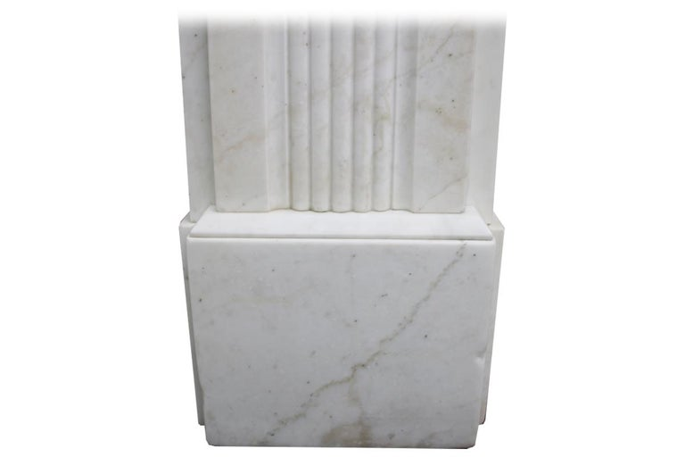 Large Antique 19th Century Victorian White Marble Fireplace Surround For Sale 4