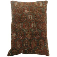 Large Antique 20th Century Brown Color Persian Malayer Paisley Rug Pillow
