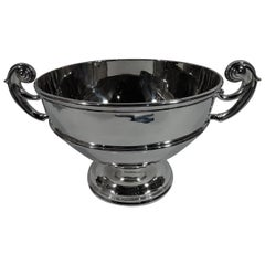 Large Antique American Classical Sterling Silver Centerpiece Trophy Bowl