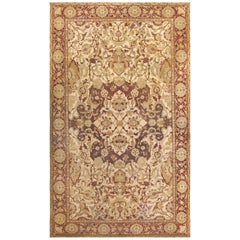 Large Antique Amritsar Indian Carpet