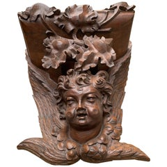 Large size and Top Quality Gothic Art Wall Bracket or Shelf with Angel or Putto