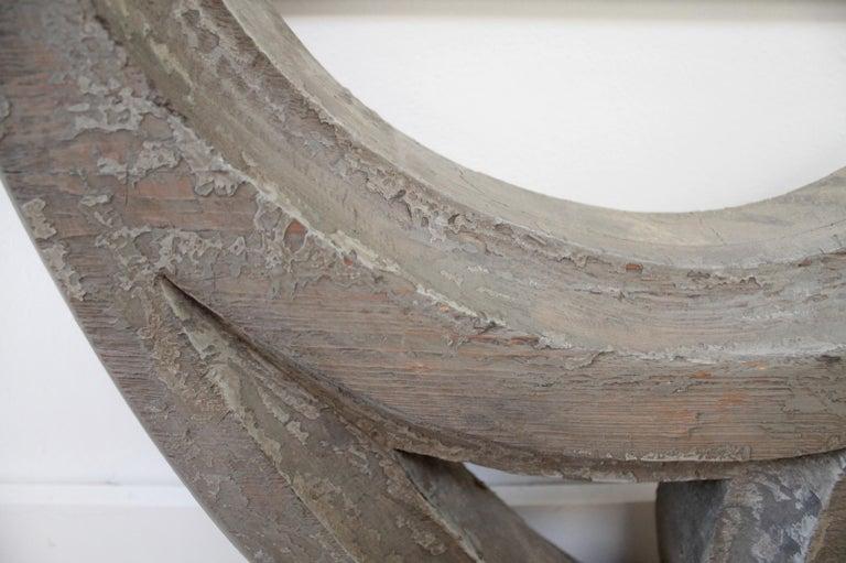 Large Antique Architectural Wood Quatrefoil Frame For Sale 5