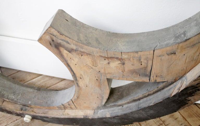 Large Antique Architectural Wood Quatrefoil Frame For Sale 10