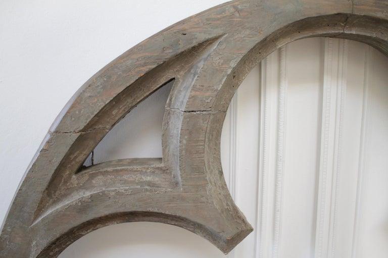 Large Antique Architectural Wood Quatrefoil Frame For Sale 2