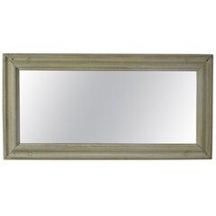 Large Antique Bleached Oak Mirror