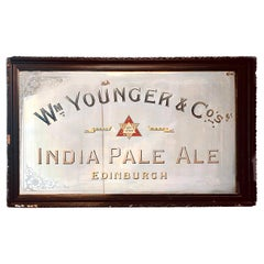 Large Antique Brewery Sign Mirror